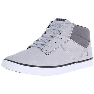 Volcom Mens Grimm Mid 2 Suede Round Toe Fashion Sneakers
