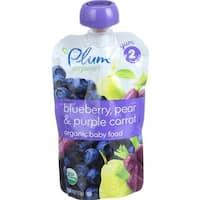 Plum Organics - Blueberry Pear & Purple Carrot Baby Food ( 6 - 4 OZ)