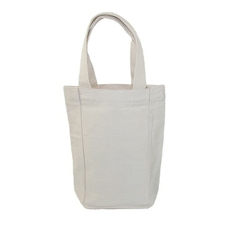 Liberty Bags Canvas Double Bottle Wine Tote - Beige - One Size