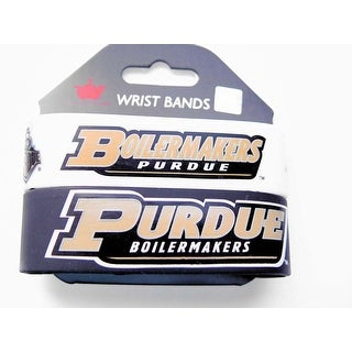 Purdue Boilermakers Rubber Wrist Band (Set of 2) NCAA