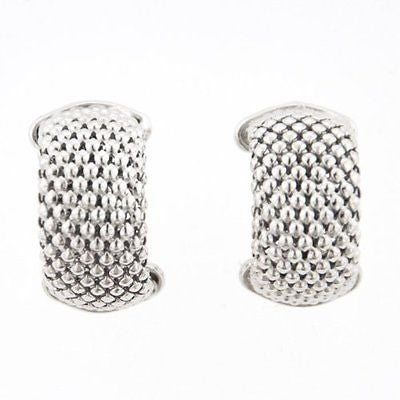 Mcs Jewelry Inc STERLING SILVER RHODIUM-PLATED MESH EARRINGS
