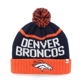 Denver Broncos Linesman Cuff Knit Hat with Pom
