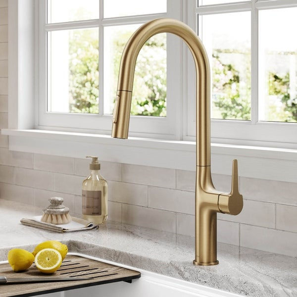 Kraus Oletto 2-Function 1-Handle 1-Hole Pulldown Kitchen Faucet. Opens flyout.