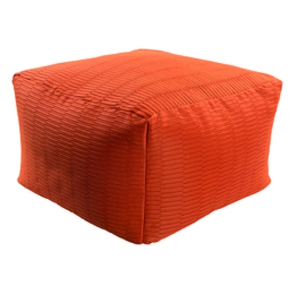 22u201d Apple Red Square Acrylic Decorative Indoor/Outdoor Pouf Ottoman