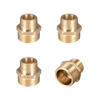 "Brass Pipe Fitting Reducing Hex Nipple 1/2""x 3/4"" G Male Pipe Brass Fitting 4pcs - 1/2"" to 3/4"" G Male 4pcs"