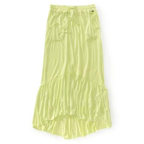 Aeropostale Womens Solid Jersey Knit Maxi Skirt