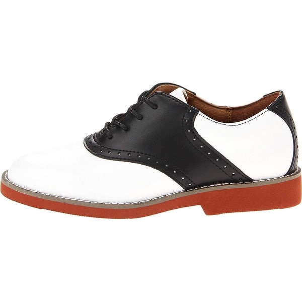 Kids School Issue Girls upper class 7300 Leather Lace Up Oxfords -  Overstock - 22810997 - Medium - Navy - 3.5 Wide Little Kid