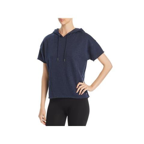Andrew Marc Womens Hoodie Short Sleeve Hi-Low - XL