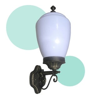 eTopLighting Golden Black Finished Exterior Light Fixture - Outdoor Wall Lamp