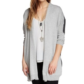 Bobeau NEW Gray Heather Womens Size Small S Colorblock Cardigan Sweater