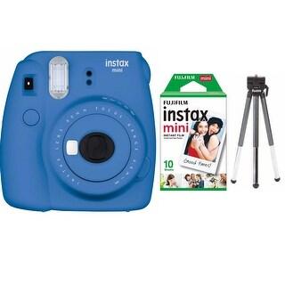 Fujifilm Instax Mini 9 (Cobalt Blue) w/ Single Foil Pack Film & Tripod Kit