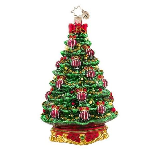 Christopher Radko Glass Noble Fir Christmas Tree Ornament #1017566 - green