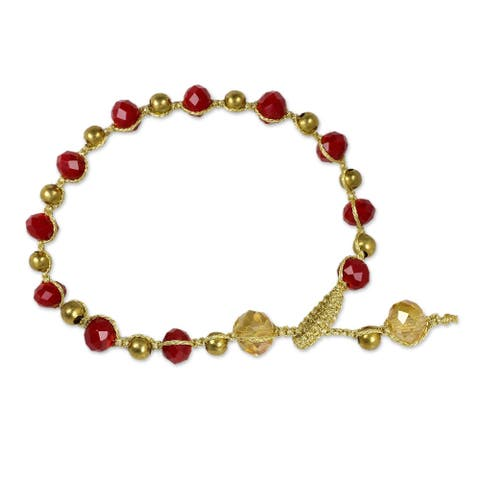 NOVICA Holiday Oasis, Beaded bracelet