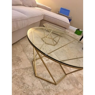 Geometric Glass Nesting Coffee Tables