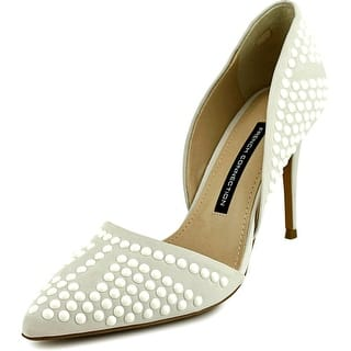 French Connection Ellis Women Pointed Toe Leather White Heels|https://ak1.ostkcdn.com/images/products/is/images/direct/e6dff0c8140ddc8924398826ba3382df799dc6f5/French-Connection-Ellis-Pointed-Toe-Leather-Heels.jpg?impolicy=medium