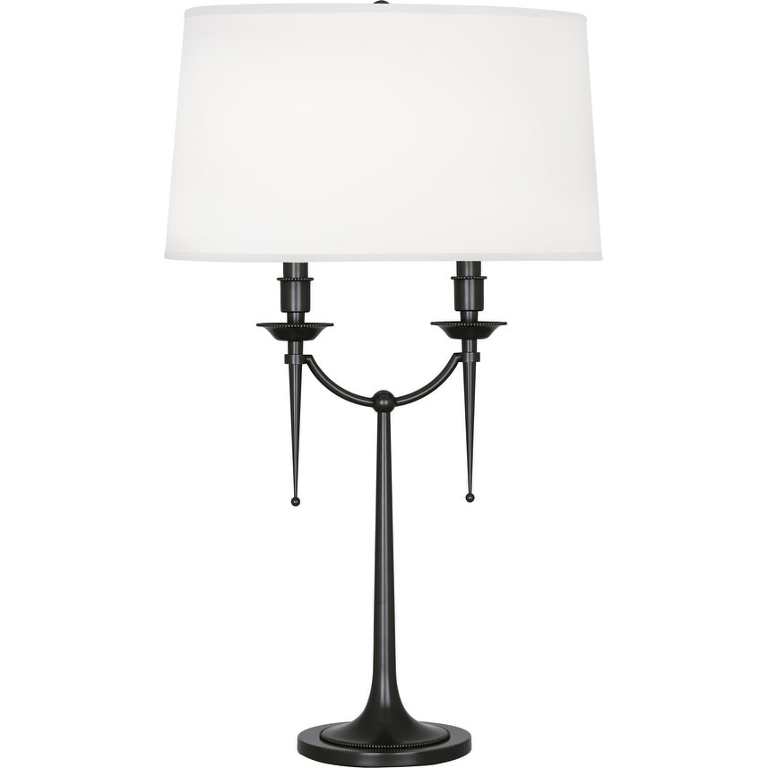 Robert Abbey Z386 Two Light Table Lamp Cedric Deep Patina Bronze One Size Overstock 32453400
