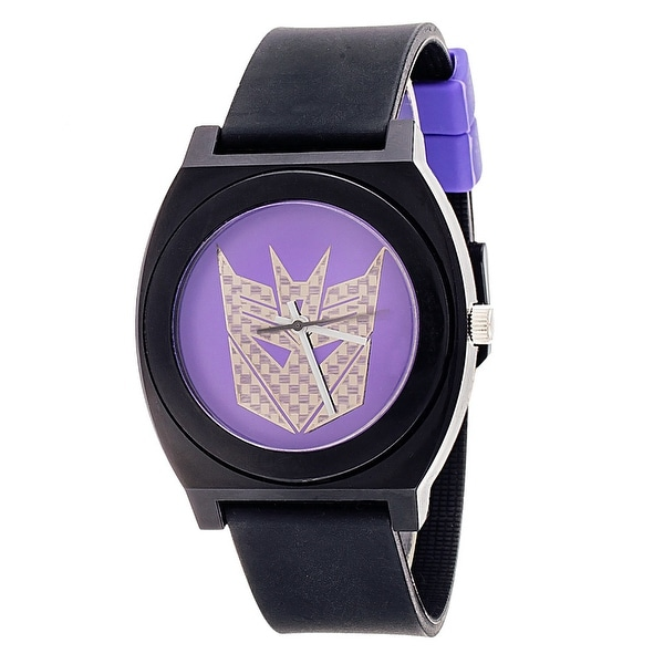 Transformers Analog Watch With Rubber Band - Decepticon Purple