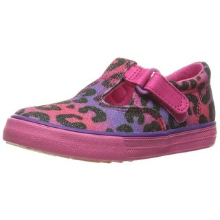Keds Daphne T-Strap Hook & Loop Sneakers Shoes Multi Leopard Sugar Dip - 4.5 m us toddler