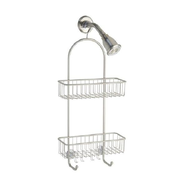 InterDesign 68945 Classico 2 Bathroom Shower Caddy, Silver, Extra Large
