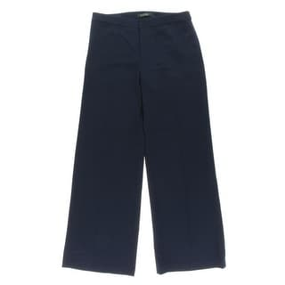Lauren Ralph Lauren Womens Flat Front Dress Pants Wide Leg Pants - 8