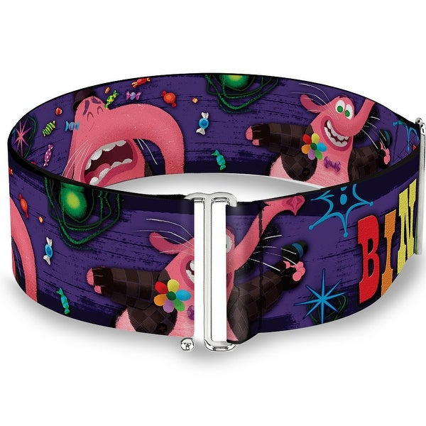 Bing Bong Poses Candy Purples Multi Color Cinch Waist Belt ONE SIZE