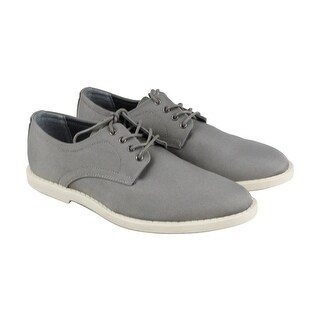 Calvin Klein Fraiser Mens Gray Leather Casual Dress Lace Up Oxfords Shoes
