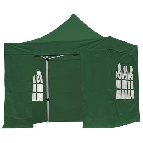 10 x 10ft Gazebo with sides, Heavy Duty Pop Up Shelter Tent