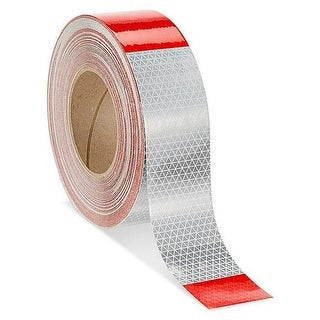 Olympia Sports 2 x 25 Reflective Conspicuity Tape, Red & White