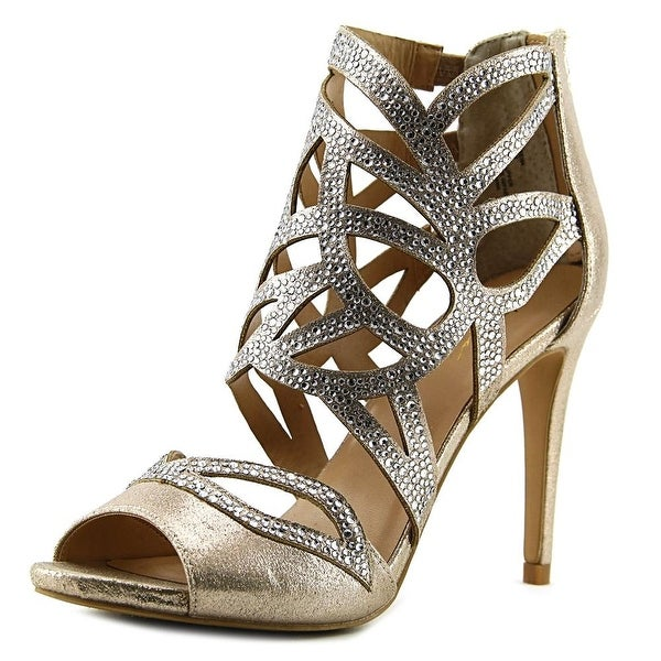Thalia Sodi Serena Women Open Toe Canvas Gold Sandals