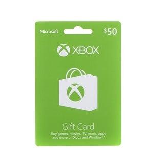 Xbox 33630 Microsoft Live $50 Gift Card