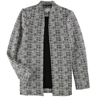 Link to Calvin Klein Womens Geometric Jacket, black, 2 Similar Items in Women's Outerwear