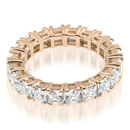 3.50 cttw. 14K Rose Gold Stylish Bezel Set Round Cut Diamond Eternity Ring