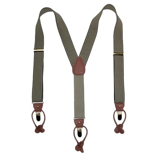 Geoffrey Beene Men's Pin Stripe Convertible Button & Clip End Suspenders