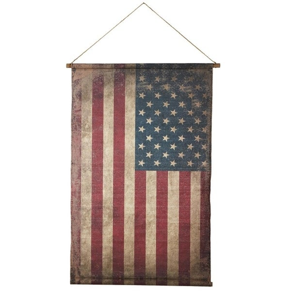 Shop Set Of 2 Red White And Blue Vintage Canvas American Flag
