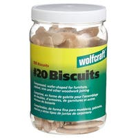 "Wolfcraft 2992 Compressed Hardwood Biscuits 29/32 X 2-1/4"""