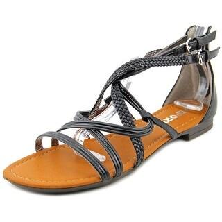 Report Georgya Women Open Toe Synthetic Black Gladiator Sandal