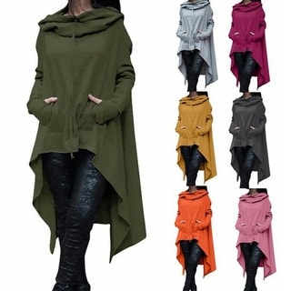 Link to Hoodieni Must Have Hi-Lo Hoodie Poncho Similar Items in Women's Sweaters
