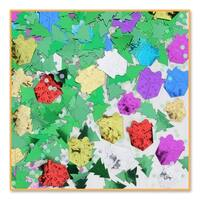 Pack of 6 Metallic Multi-Colored Christmas Day Celebration Confetti Bags 0.5 oz. - multi