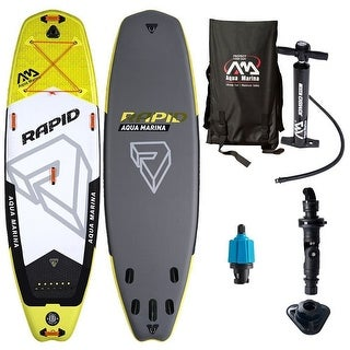 "Aqua Marina Rapid River Inflatable Stand-up Paddle Board 10-10"" L x 30"" W x 6"" D"