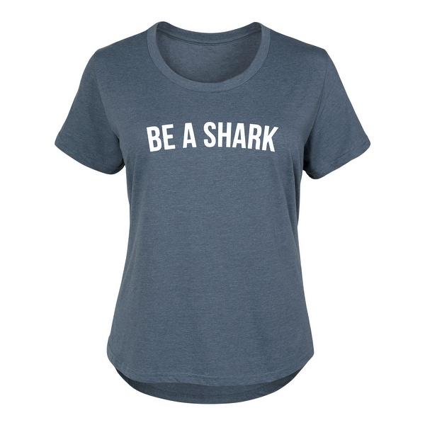 dfd09c9c69e Shop Be A Shark - Pop Culture Cute Ladies Plus Size Scoop Neck Tee ...