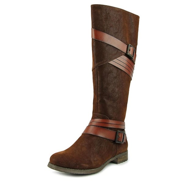 Bull Boxer Marlee Women Round Toe Synthetic Brown Knee High Boot