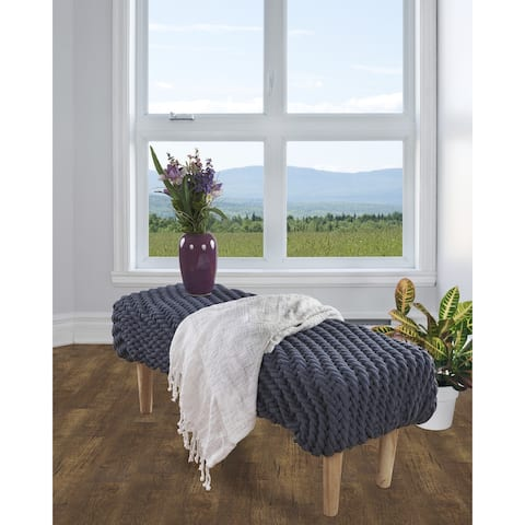 Soft Gray Shibori Slab Throw Blanket with Fringe