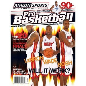 Lebron James unsigned 2010 Miami Heat Athlon Pro Basketball Annual Magazine