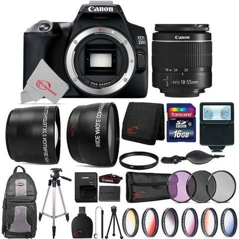 Canon EOS 250D / Rebel SL3 24.1MP 4K Digital SLR Camera with Top Accessory Bundle