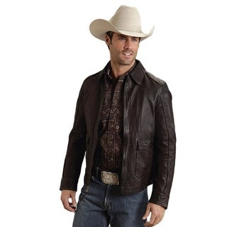 Stetson Western Jacket Mens Soft Leather Mocha