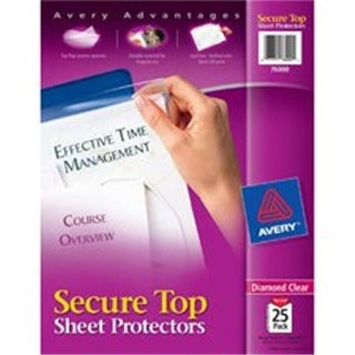 Avery AVE76000BD Diamond Secure Top Sheet Protectors, Clear