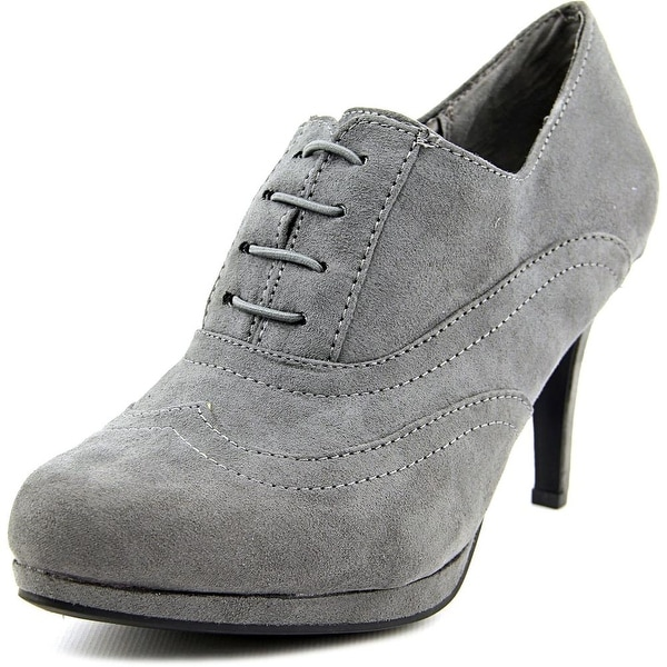 Life Stride Xanti 2 Women Pointed Toe Canvas Gray Bootie