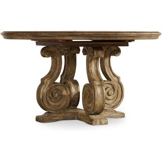 "Hooker Furniture 5291-75203  54"" Diameter Poplar Wood Dining Table from the Solana Collection - Light Caramel Latte"