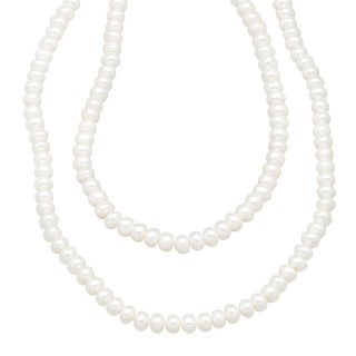 Freshwater Button Pearl Strand Necklace