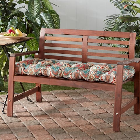 Greendale Home Fashions Global 18-inch x 51-inch Outdoor Bench Cushion
